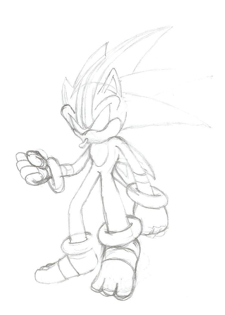 Darkspine Sonic sketch by Sweecrue