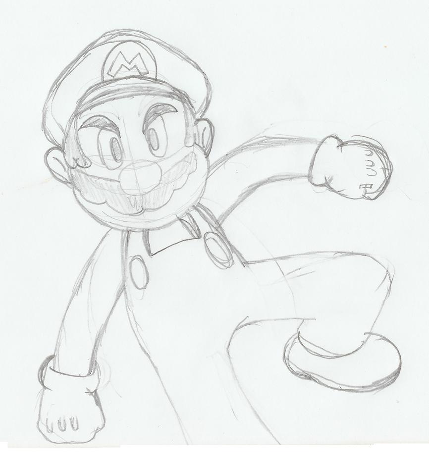 Mario Sketch By Sweecrue On DeviantArt