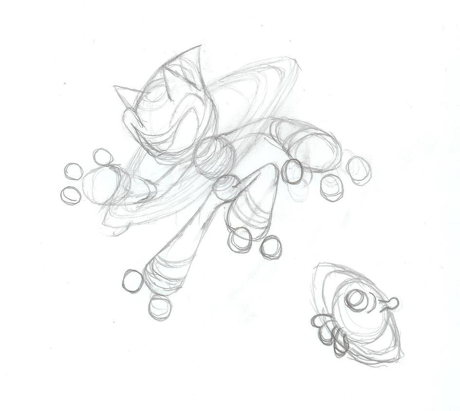 Asteroid Sonic sketch by Sweecrue on DeviantArt