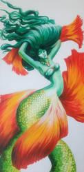 Mermaid in Complimentary Colors by JillianRK