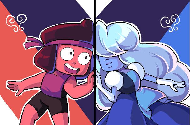 Ruby and Saphhire by raina0918