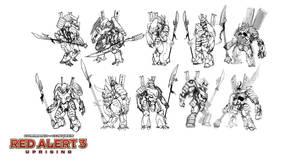 Steel Ronin sketches