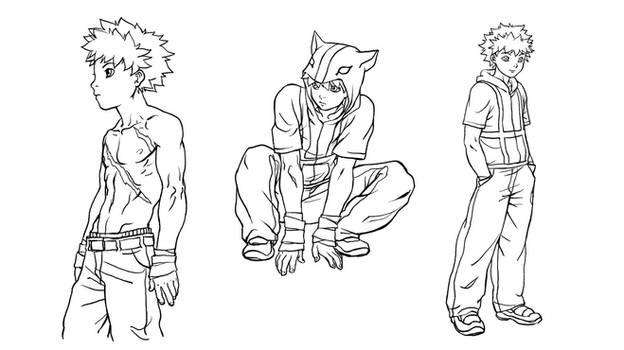 Commission line art
