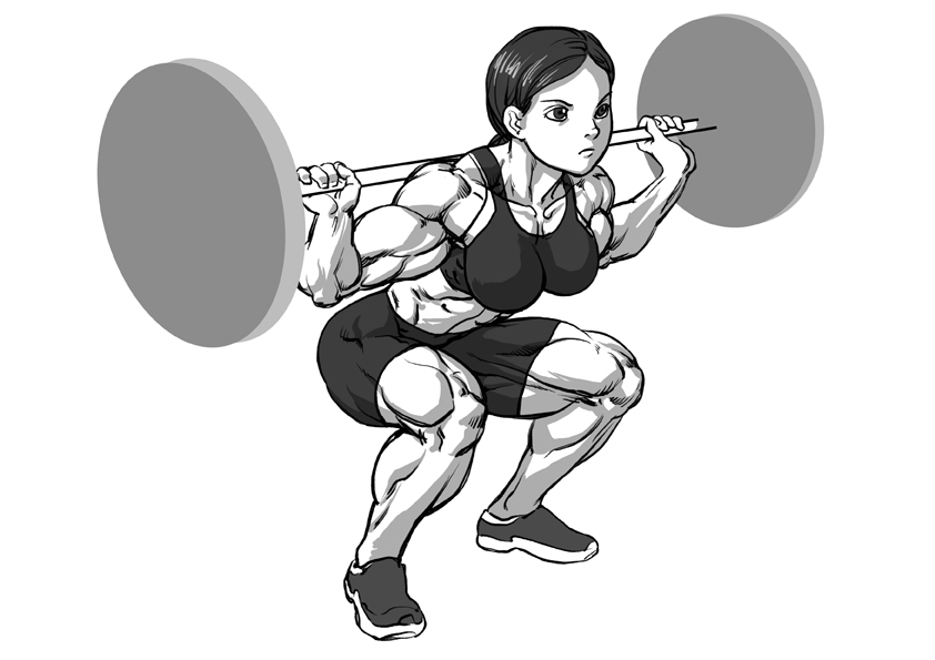 Overhead Squat Drawing Deep squat by Pokkuti ...