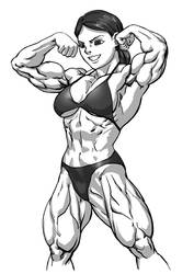 Double biceps pose by Pokkuti