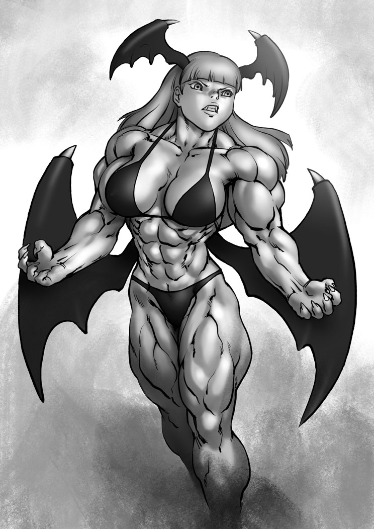 Power up Morrigan by Pokkuti