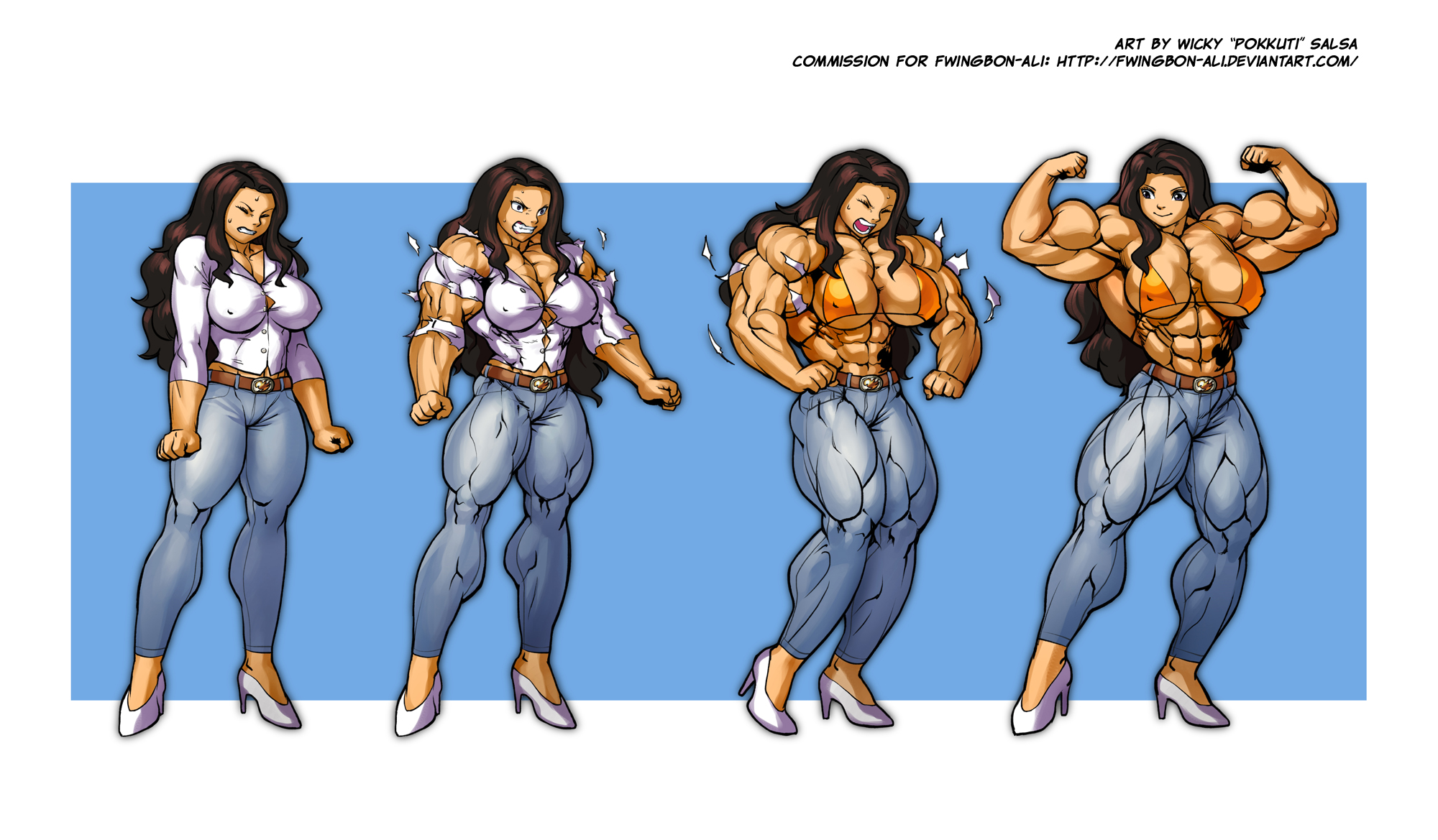 Muscle growth girl animation naked fucking film