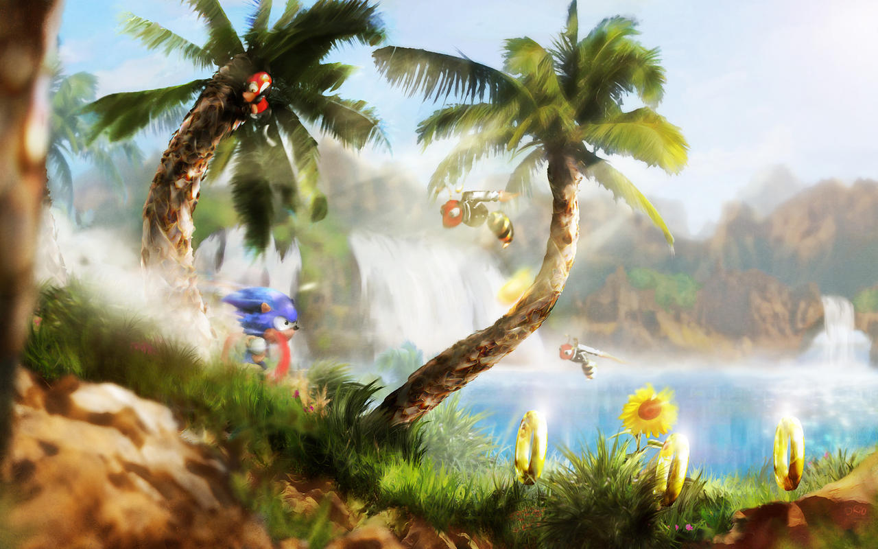 Green Hill Zone By Orioto On Deviantart