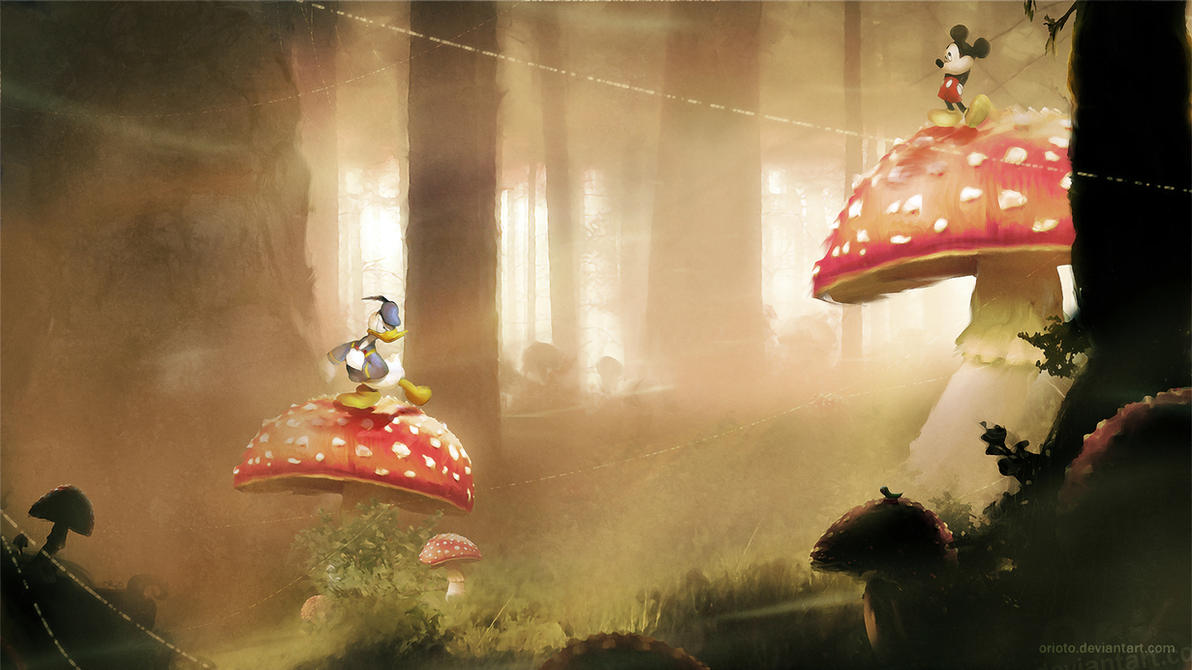 Mickey and Donald by Orioto