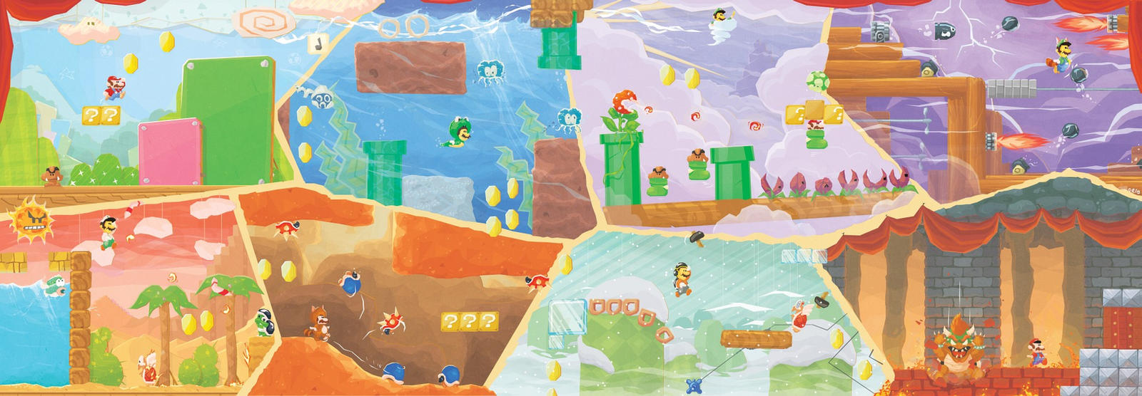 Super Mario Bros 3 Fresco by Orioto