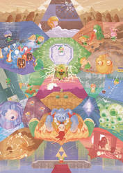 Zelda LTTP Fresco by Orioto