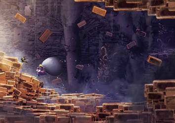 Escaping The Golden Pyramid by Orioto