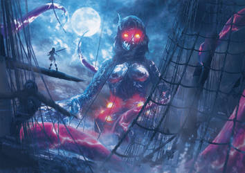 Tentacles Over The Galleon by Orioto