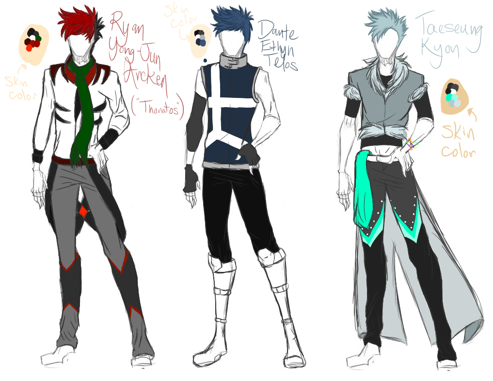 Rwby Character Design Contest : Rwby character reference part by whisperthechosen on