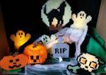Halloween Diorama 2017 by PixelPixiePerler