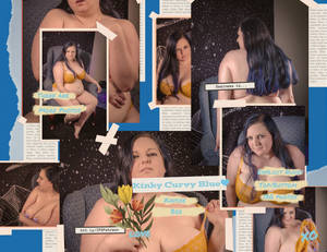 Collage for Kinky Curvy Blue Ad