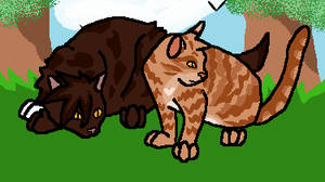 Nettlestorm and russetheart are patrolling by BrightstarRavineclan