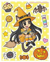 Halloween Sticker Set by zombiemilkshake