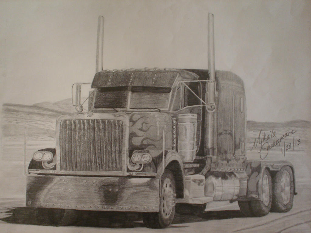 Optimus Prime Truck Sketch by MNS-Prime-21 on DeviantArt