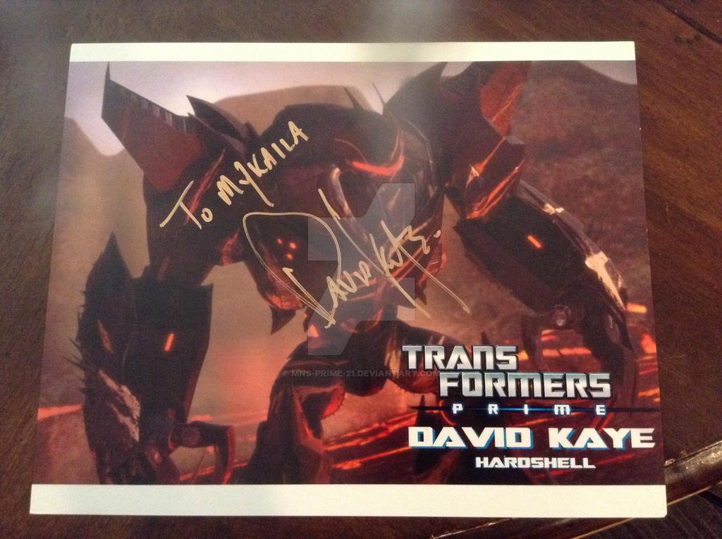 Hardshell - David Kaye Autograph by MNS-Prime-21