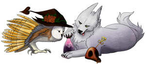 Tala and Chess by Bear-Drool