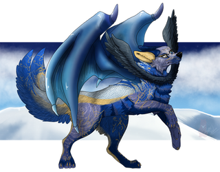 Moony-dragon char by Bear-Drool