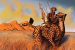 Monkey Riding A Cheetah