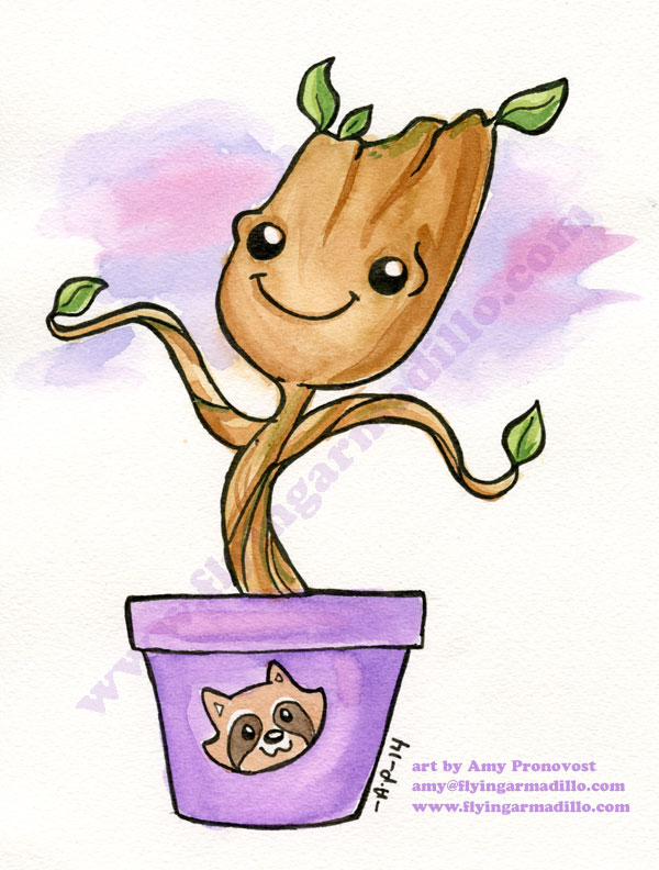 Baby Dancing Groot! by artyewok