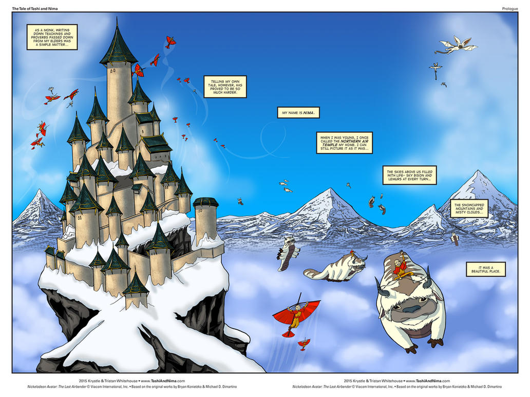Tashi and Nima: Prologue Page 2 (Spread) by tashiandnima
