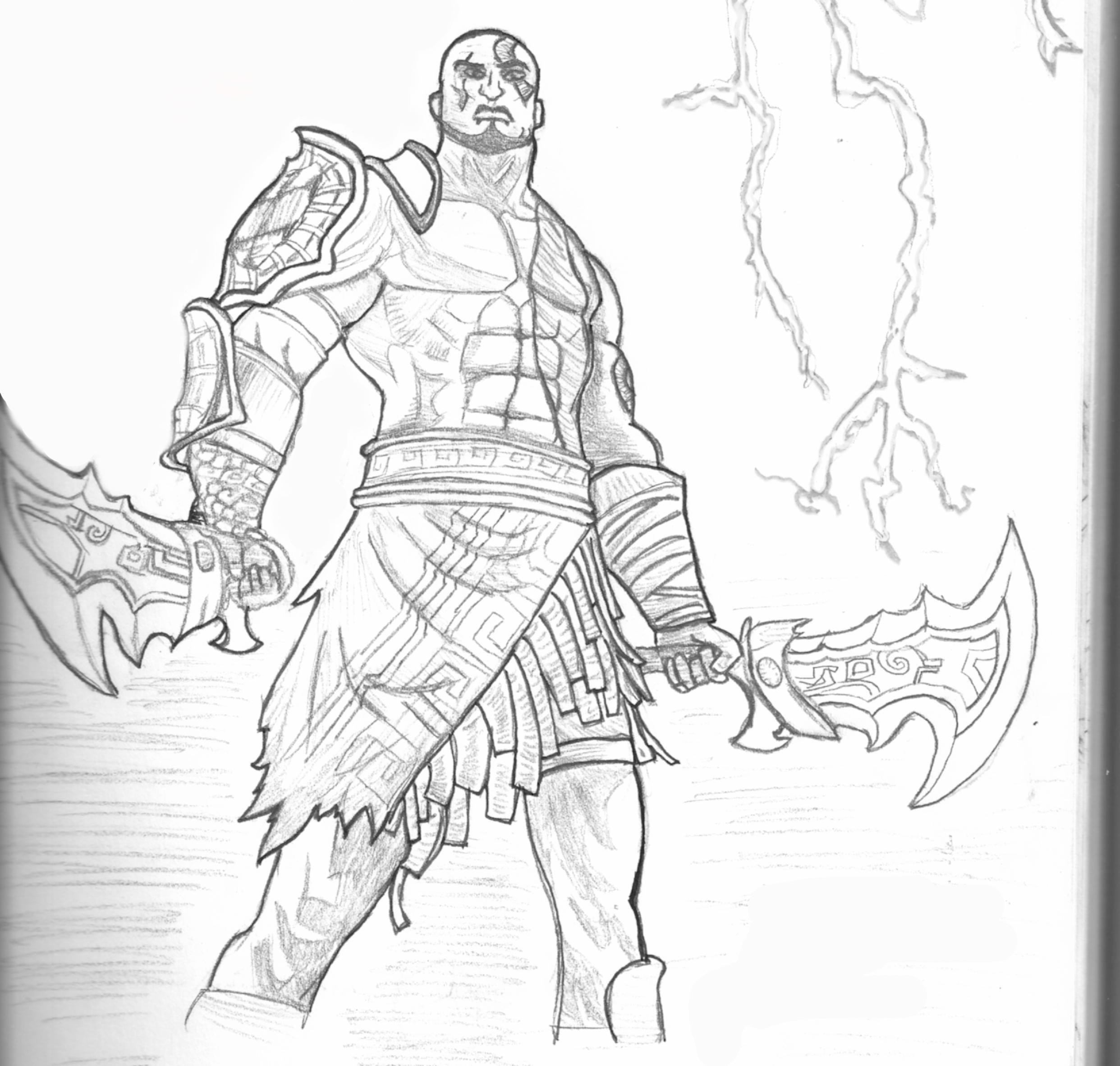 Kratos God Of War By Sh3iik On Deviantart