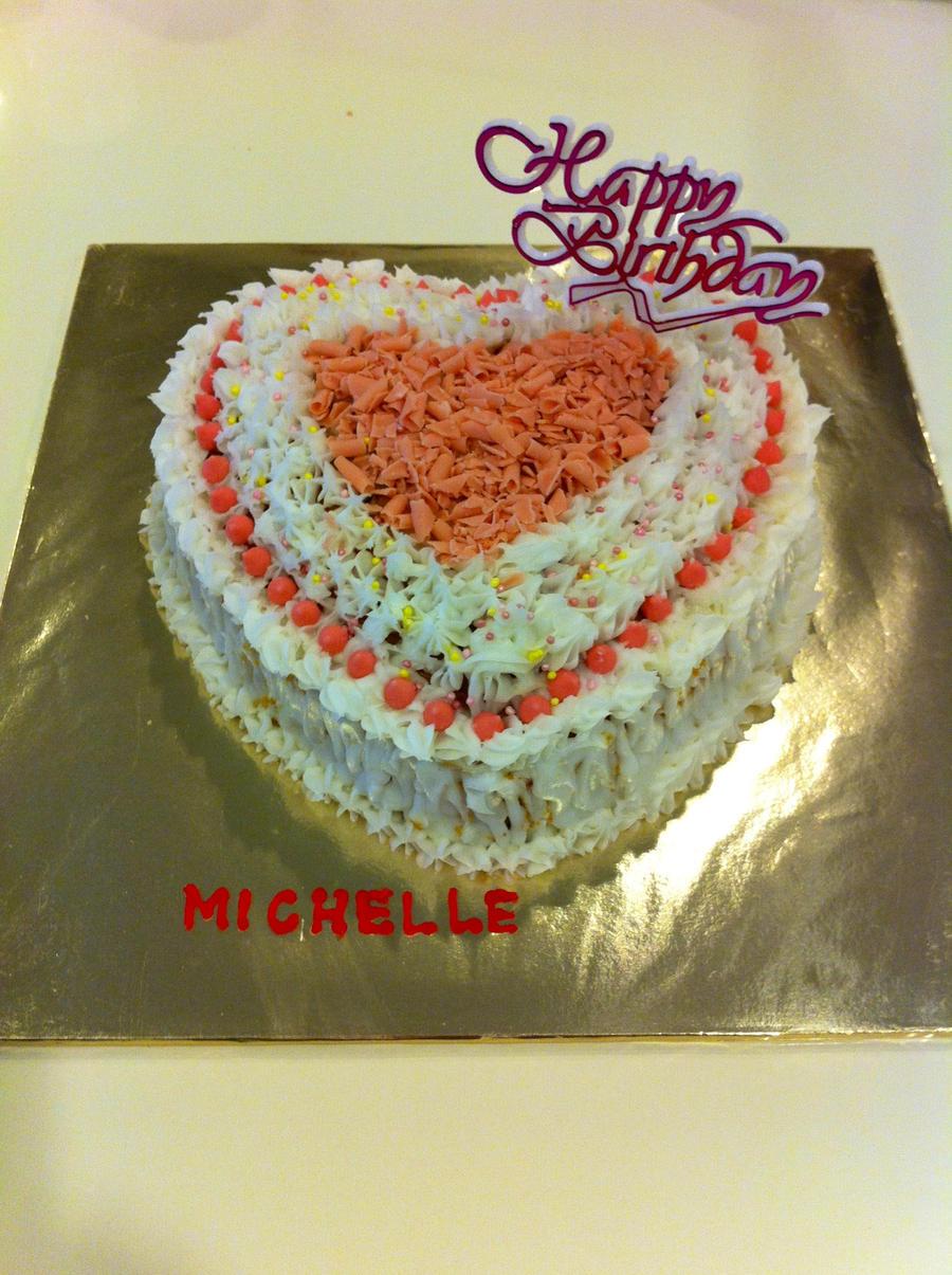 Heart-shaped Birthday Cake by IoaleKelina on DeviantArt