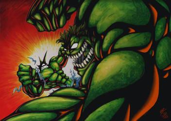 Hulk vs savage dragon collab by VASS-comics