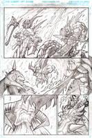 Murderthane teaser pg1 pencils by VASS-comics