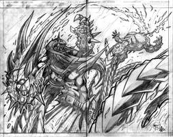 Murderthane teaser splash page by VASS-comics