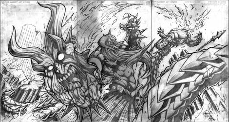 Murderthane  3pg fold-out by VASS-comics