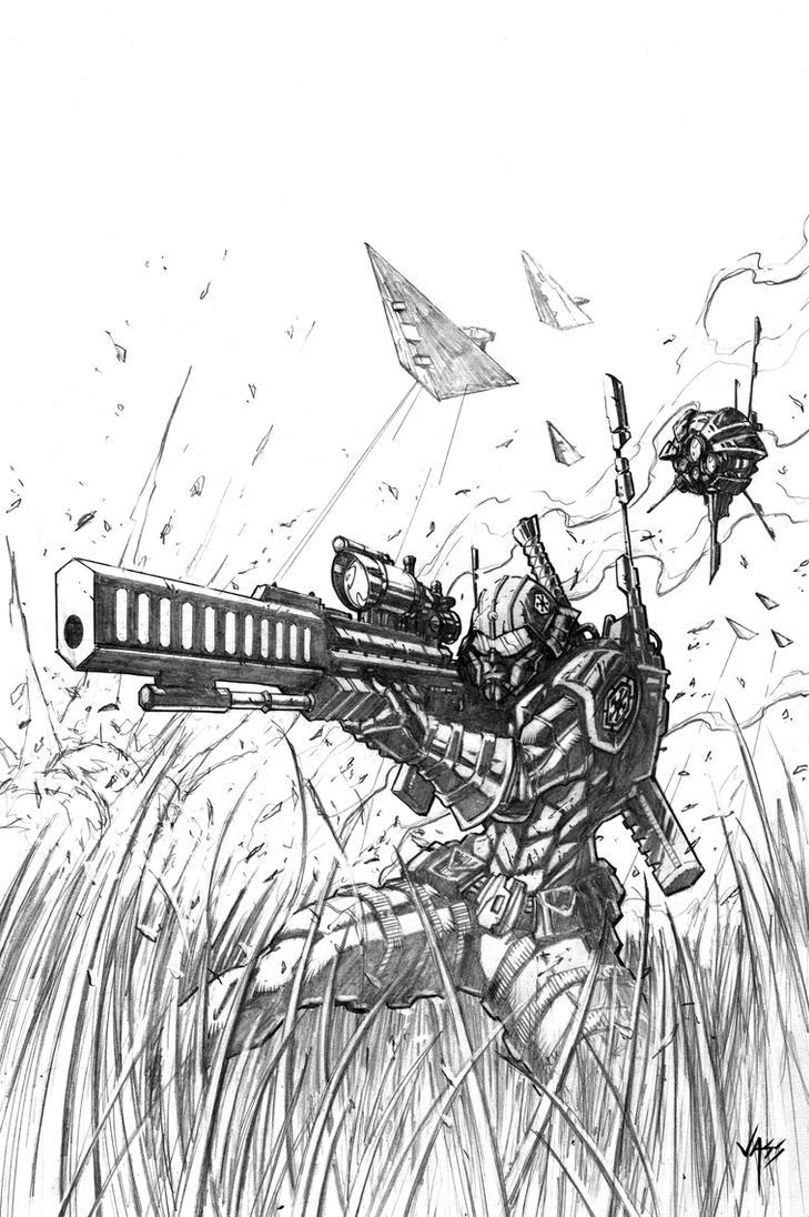 Imperial Agent Pencils by VASS-comics