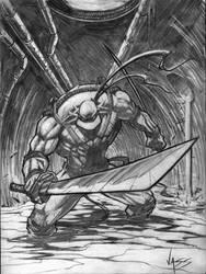 TMNT-Leonardo sketch by VASS-comics