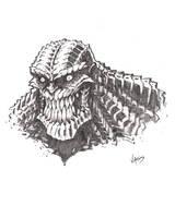 Killer Croc sketch by VASS-comics