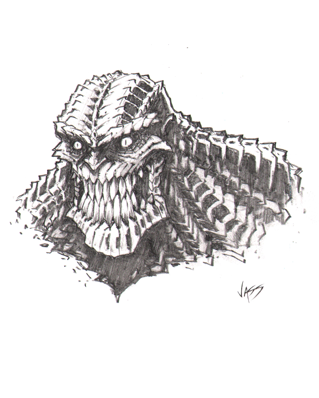 Killer croc sketch by vass comics on deviantart for Killer croc coloring pages