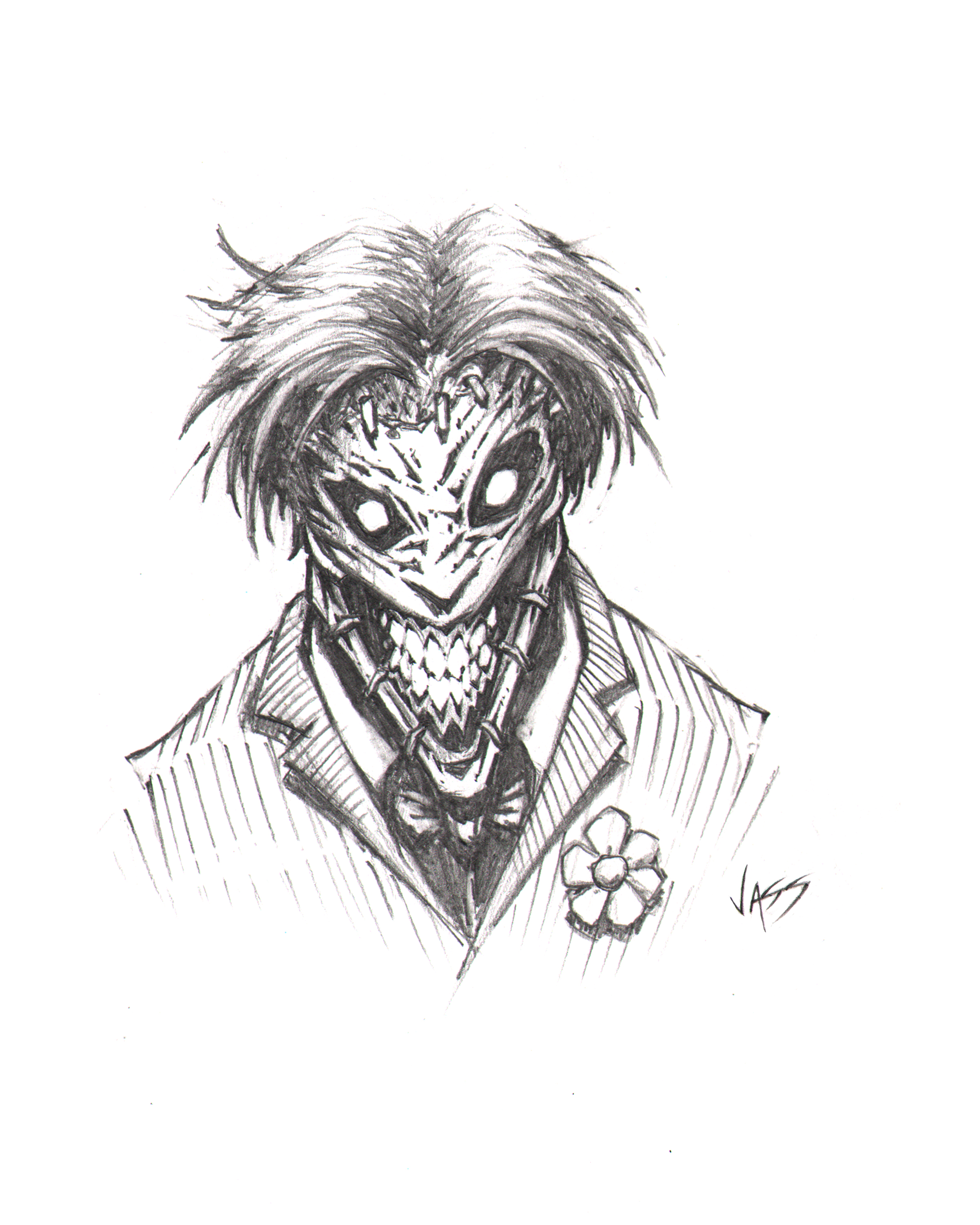 Joker sketch by VASS-c... Easy Gangster Joker Drawings