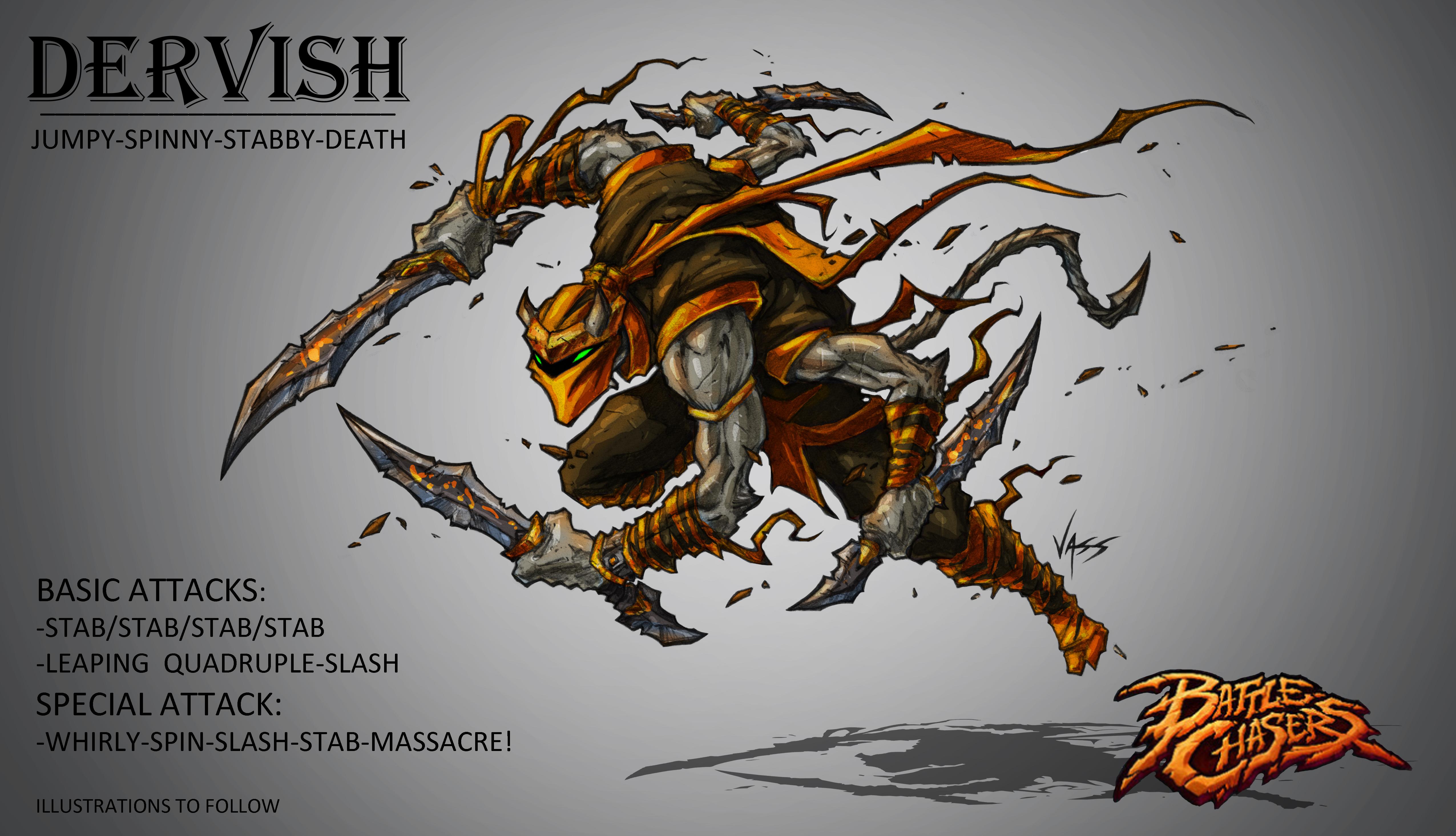 Battlechasers Nightwar contest- Dervish by VASS-comics