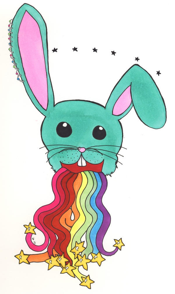 Bunnies Spew Rainbows by TheDramaticMonarch