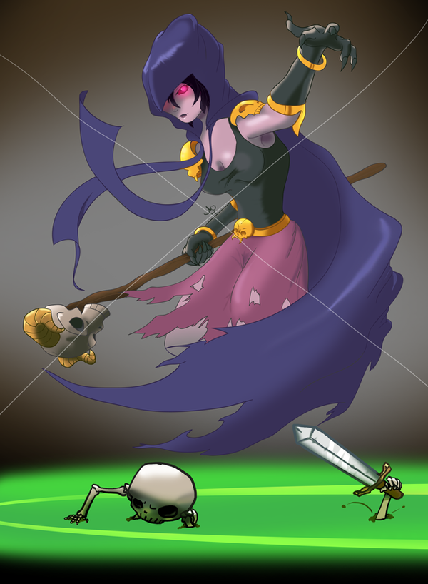 Clash of Clans Troop: the Witch by Creepy99 on DeviantArt
