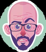 Stickerhead by TeeDizzle