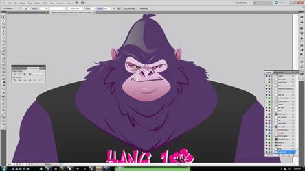 Purple-gorilla by TeeDizzle