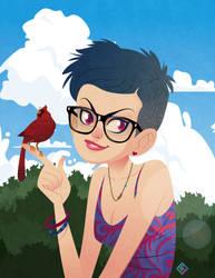 Bird Girl by TeeDizzle