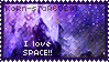 I Love Space Stamp by KoRn-sTaR60291