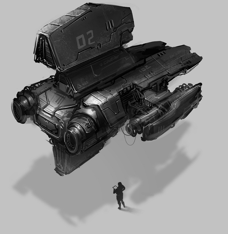 concept of a starfighter by ProgV