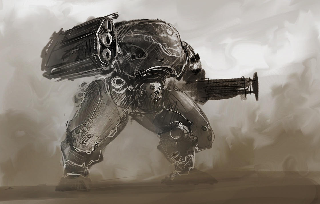 Concept of a power armor by ProgV