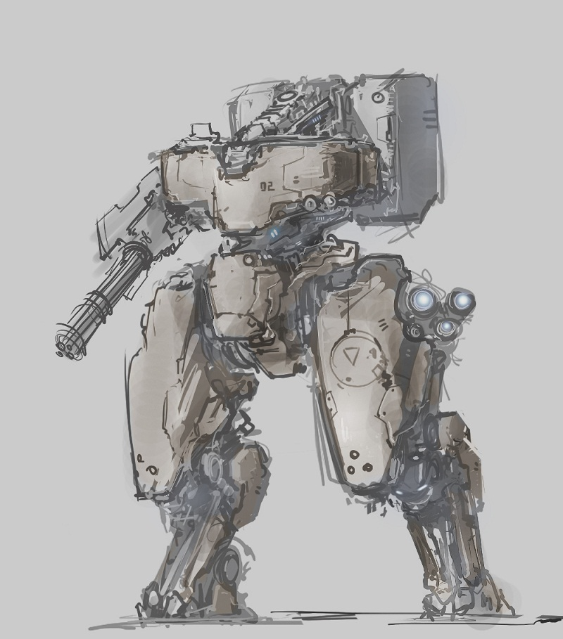 mecha sketch 2 by ProgV